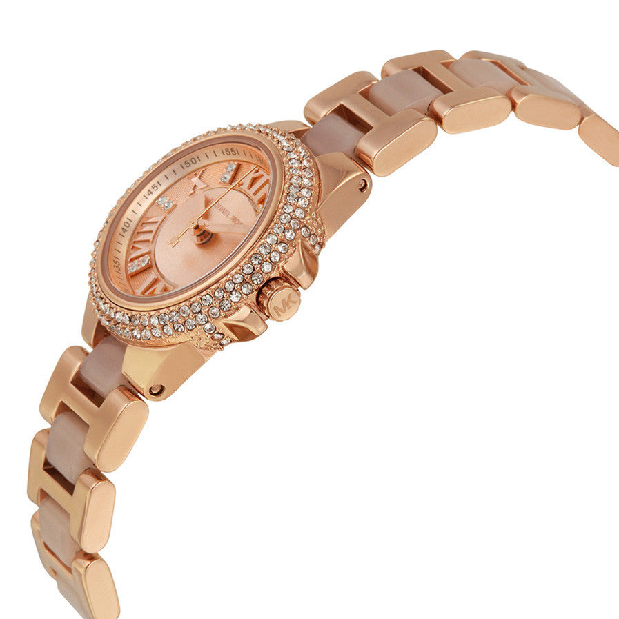 Petite Camille Rose Dial Rose Gold-tone Ladies Watch