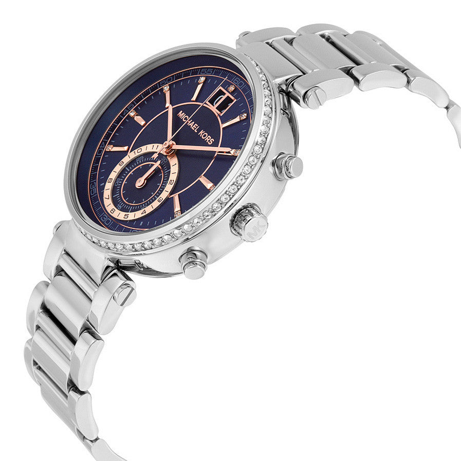 Sawyer Blue Dial Stainless Steel Ladies Watch