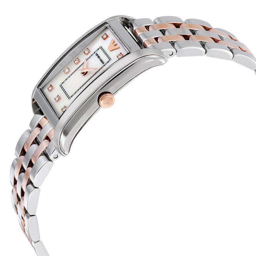 Classic Mother of Pearl Dial Two-tone Stainless Steel Ladies Watch