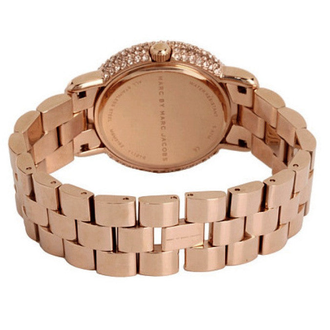 Marci Pave Crystal Rose Gold Bracelet Ladies Watch