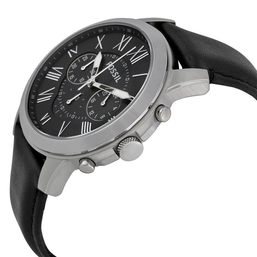 Grant Chronograph Black Dial Black Leather Men's Watch