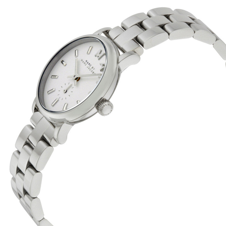 Baker White Pearlized Finish Dial Ladies Watch