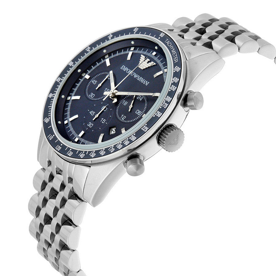 Sportivo Chronograph Blue Dial Stainless Steel Men's Watch