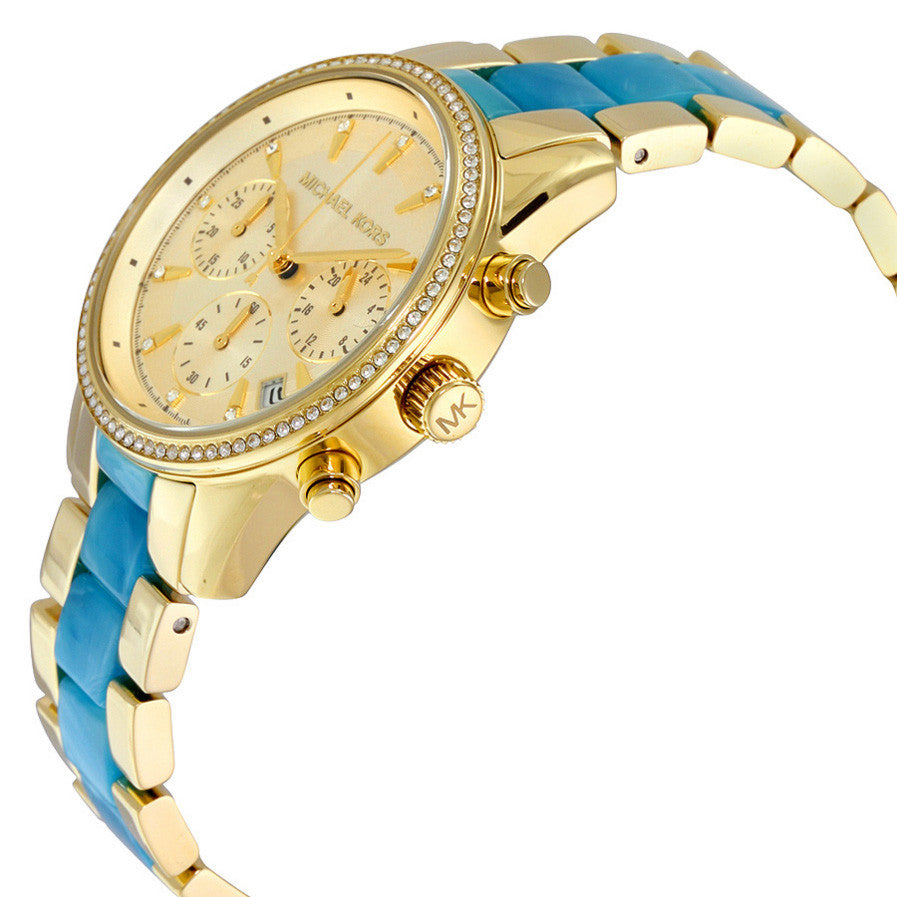 Ritz Quartz Gold-tone Chronograph Dial Gold-tone Stainless Steel Ladies Watch