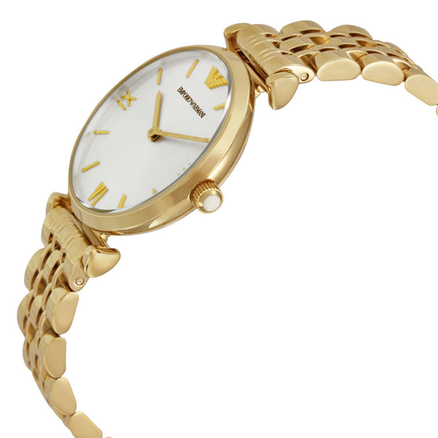 Classic Silver Dial Gold Tone Ladies Watch