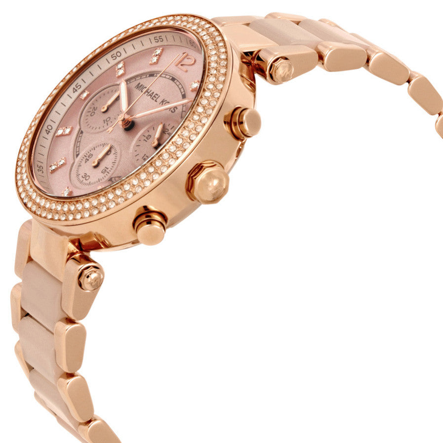 21981c9a1fa6 ... Parker Blush Dial Rose Gold-tone and Blush Acetate Ladies Watch ...