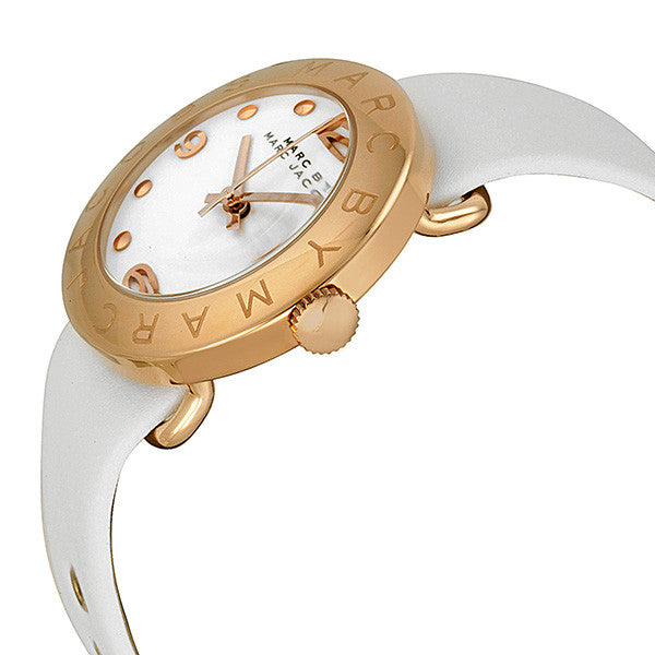 Amy White Dial White Leather Ladies Watch