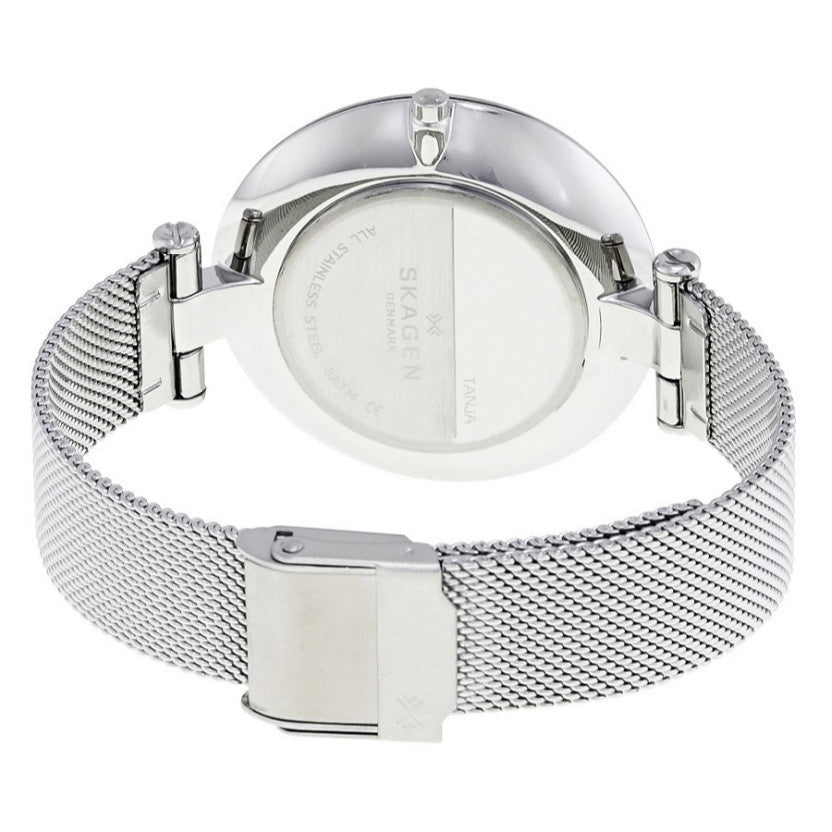 Tanja Silver Dial Ladies Stainless Steel Mesh Watch
