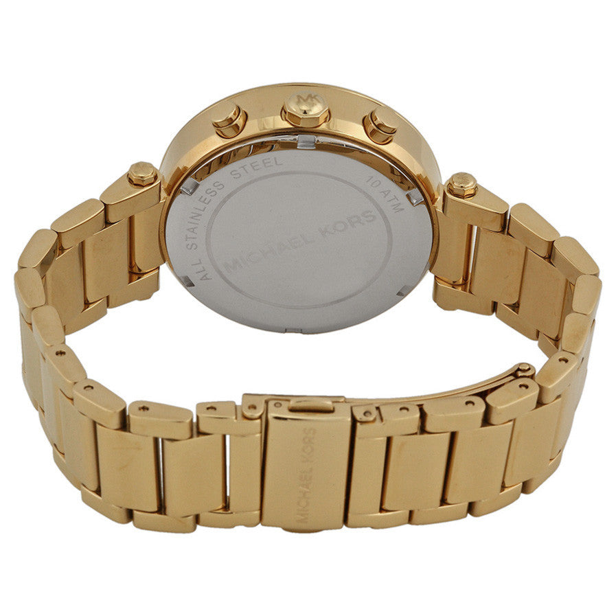 Parker Crystal Chronograph Gold Dial Gold-tone Ladies Watch