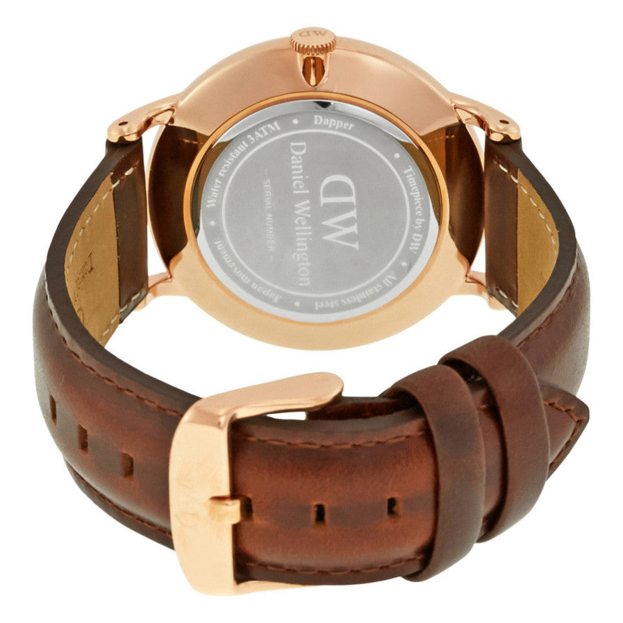 Dapper St Mawes Rose Gold 38mm Men's Watch