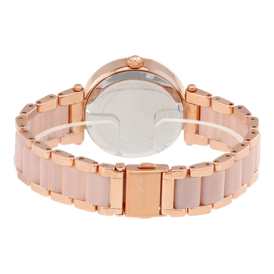 Parker Mini Multi-Function Rose Dial Rose Gold-tone and Blush Acetate Ladies Watch