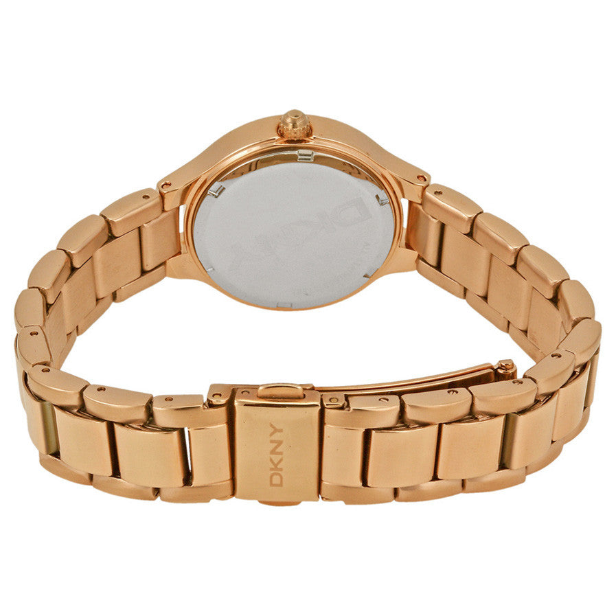 Chambers White Dial Rose Gold-tone Ladies Watch
