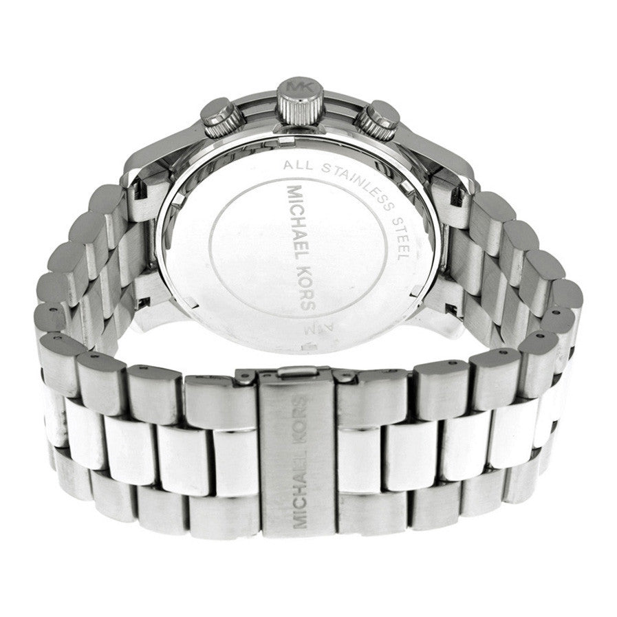 Michael Kors MK8086 Silver Oversized Runway Watch - 32° Watches e49af9aebd