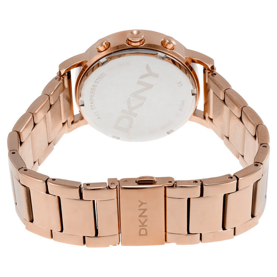 Lexington Chronograph Rose Dial Rose Gold-plated Ladies Watch