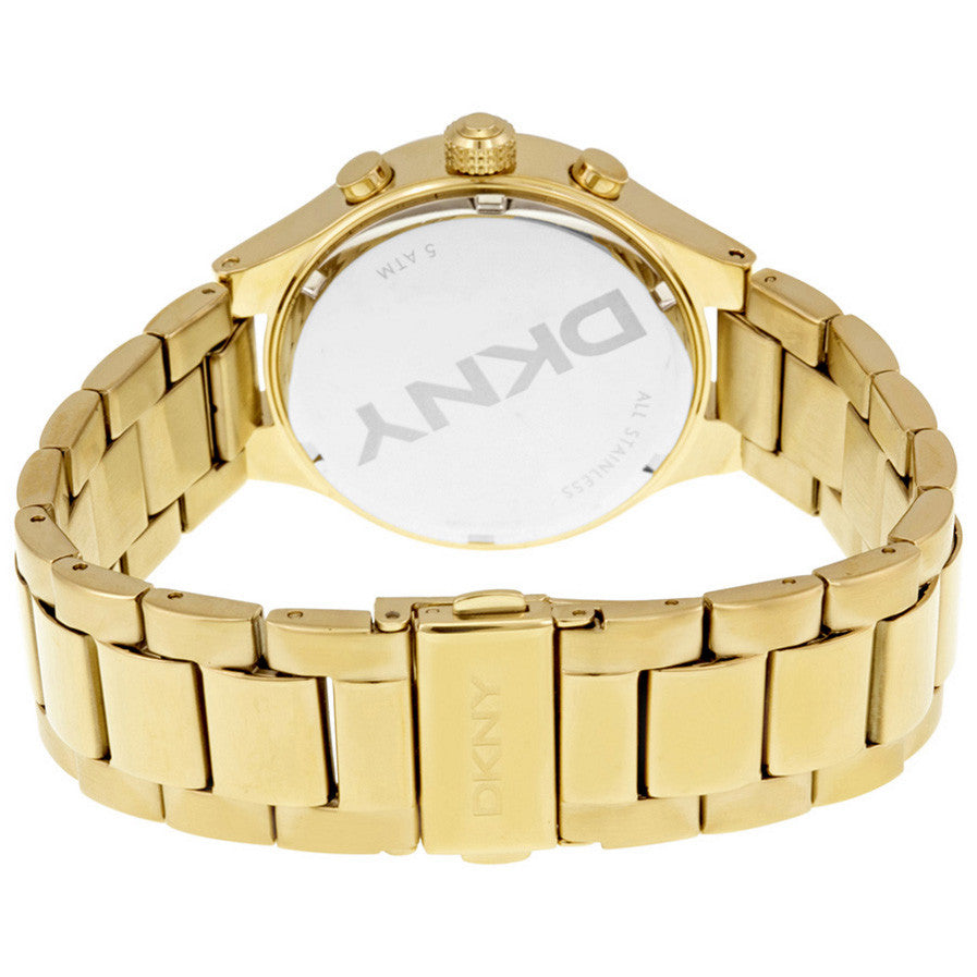 Chambers Chronograph White Pearlized Gold-tone Ladies Watch