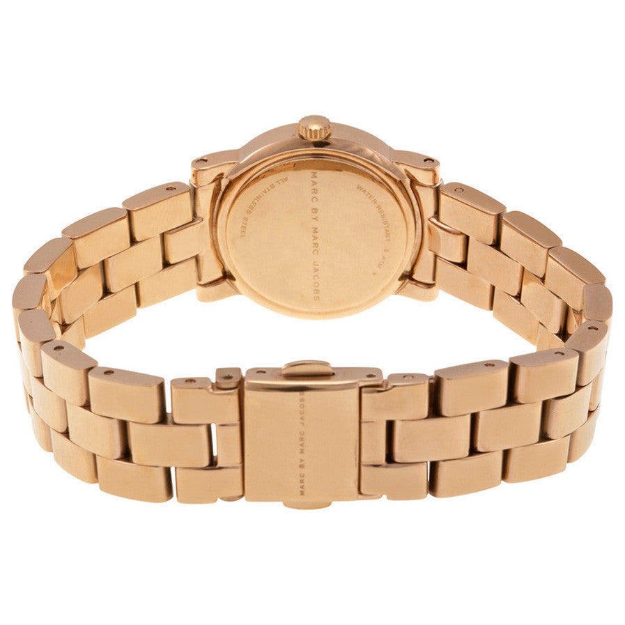 Mini Amy White Dial Rose Gold-tone Stainless Steel Ladies Watch