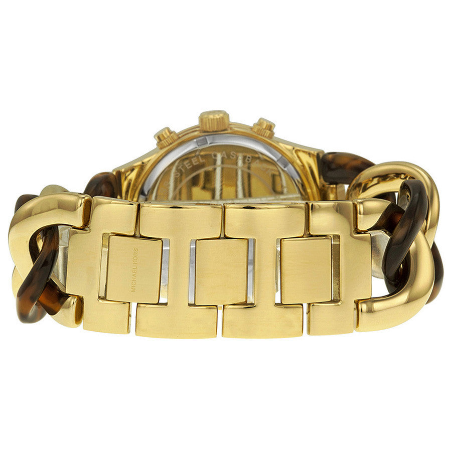 Chain Link Acrylic Gold-tone Ladies Watch