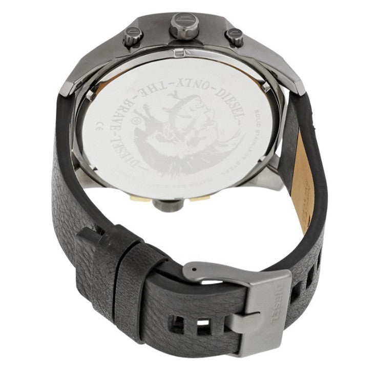 Uber Chief Black Dial Black Leather Men's Watch