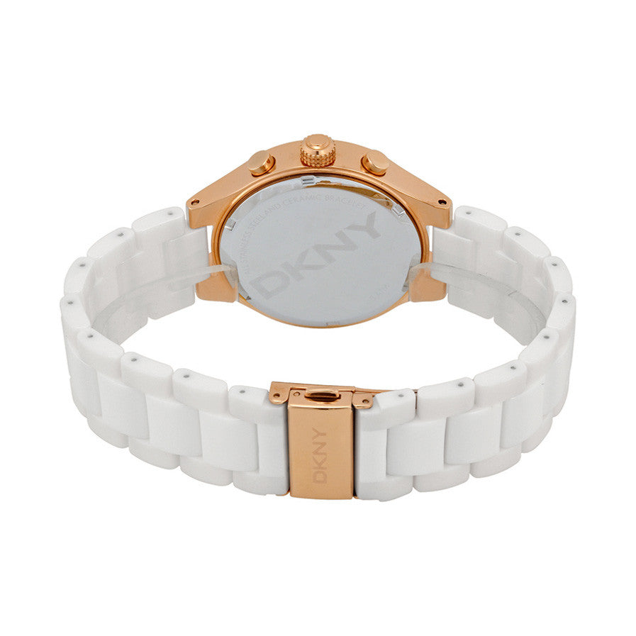 Chambers Multi-Function White Dial White Ceramic Ladies Watch