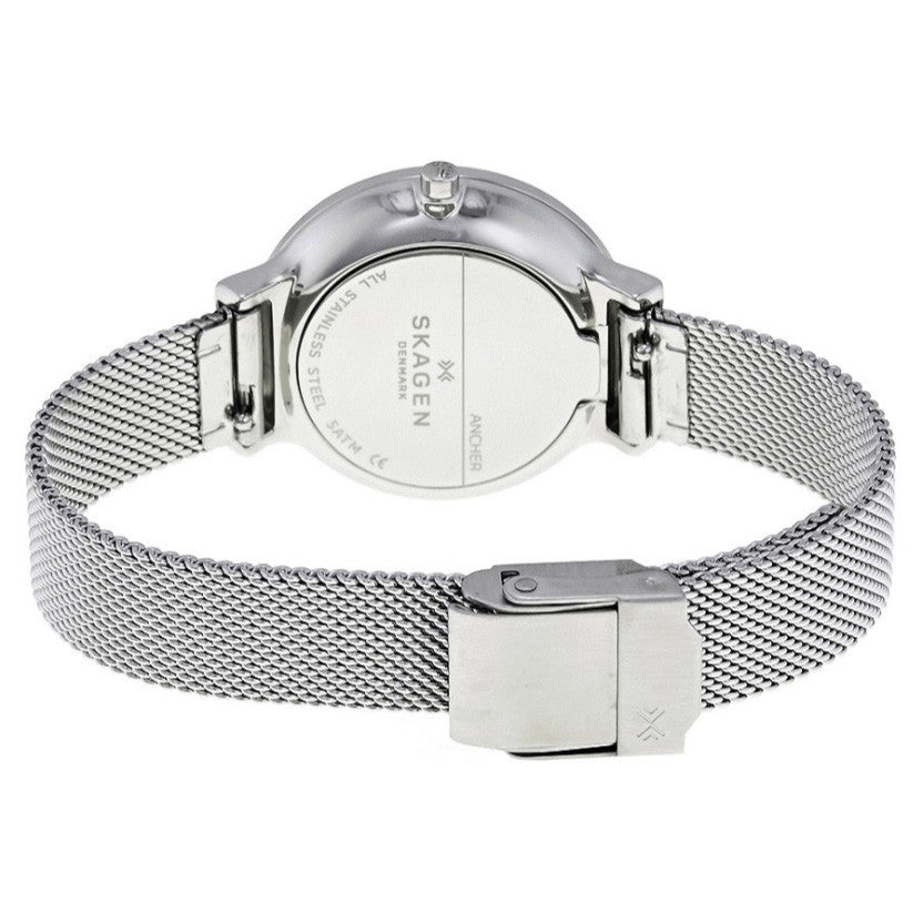 d7a0fa0e706e Skagen SKW2478 Ancher White Dial Ladies Mesh Watch - 32° Watches