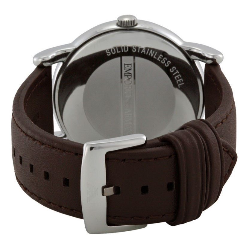 Luigi Brown Dial Brown Leather Strap Men's Watch
