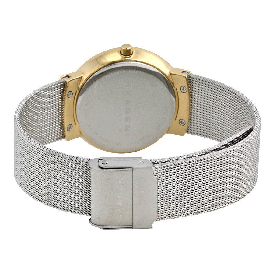 Klassik White Dial Stainless Steel Mesh Ladies Watch