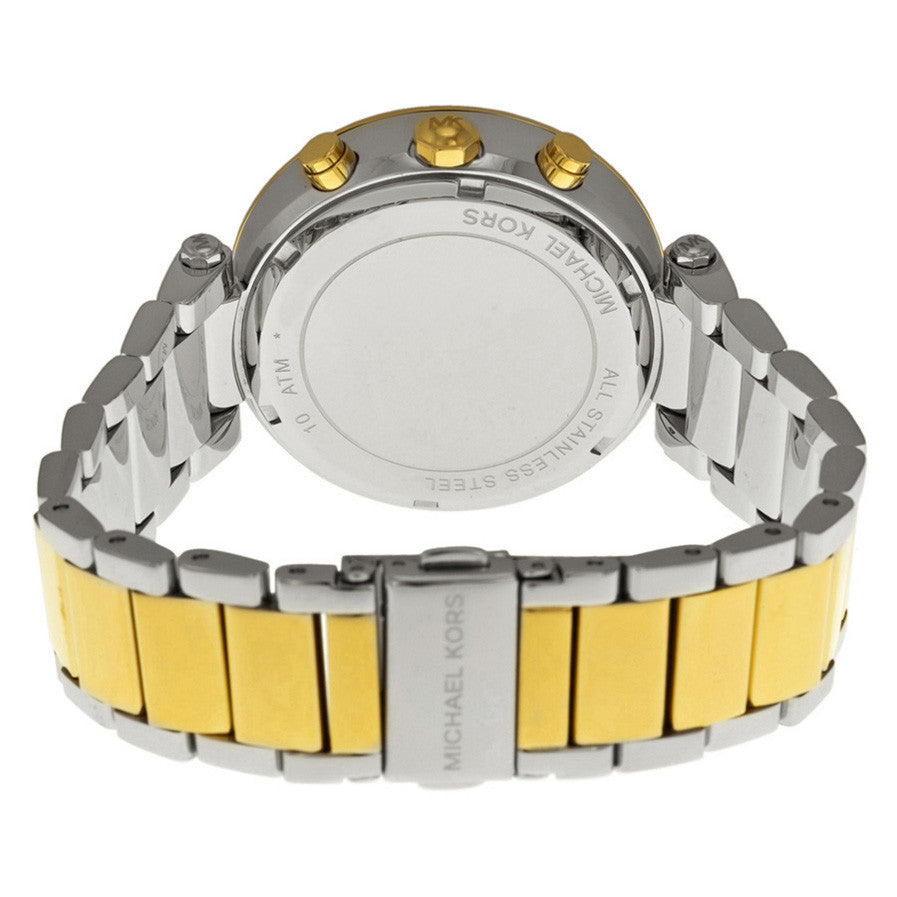 Parker Glitz Silver Dial Two-tone Ladies Watch
