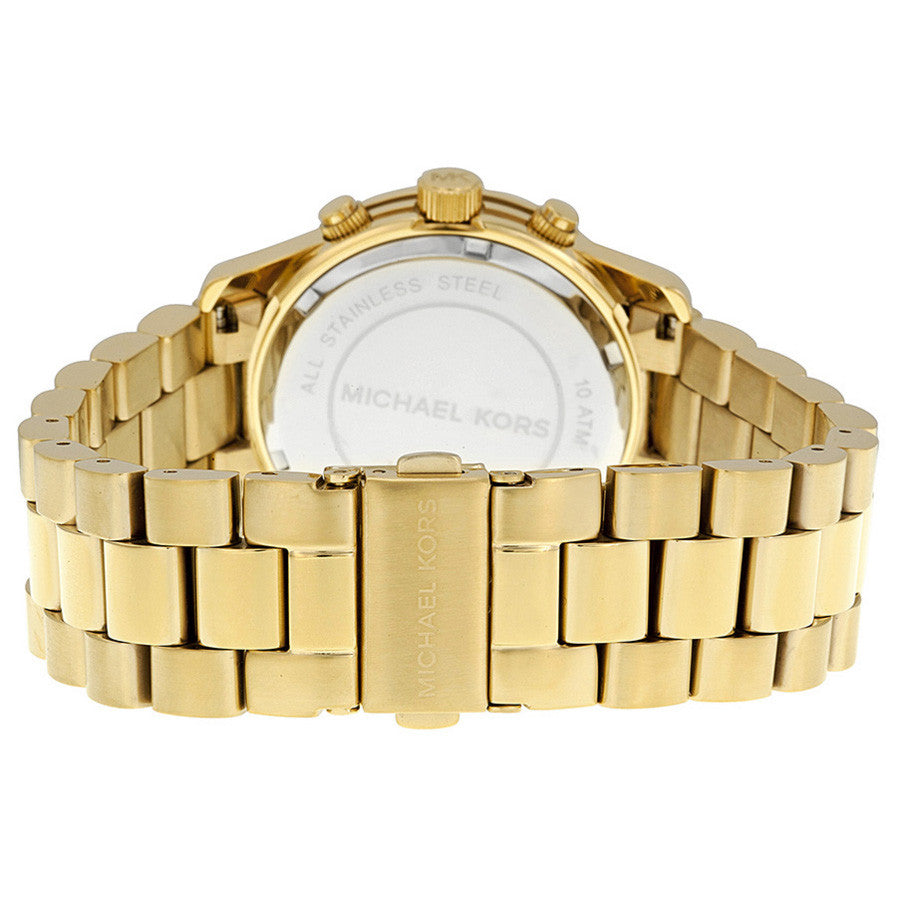 Midsized Chronograph Gold-tone Unisex Watch