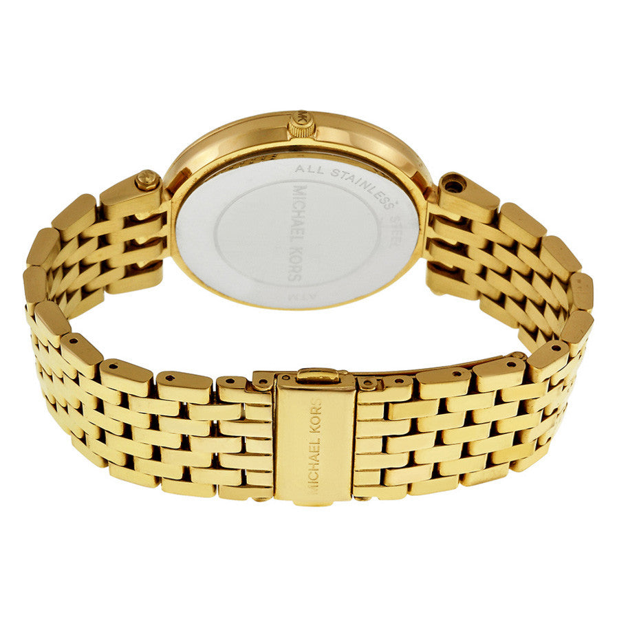 Darci Glitz Gold Dial Pave Bezel Ladies Watch