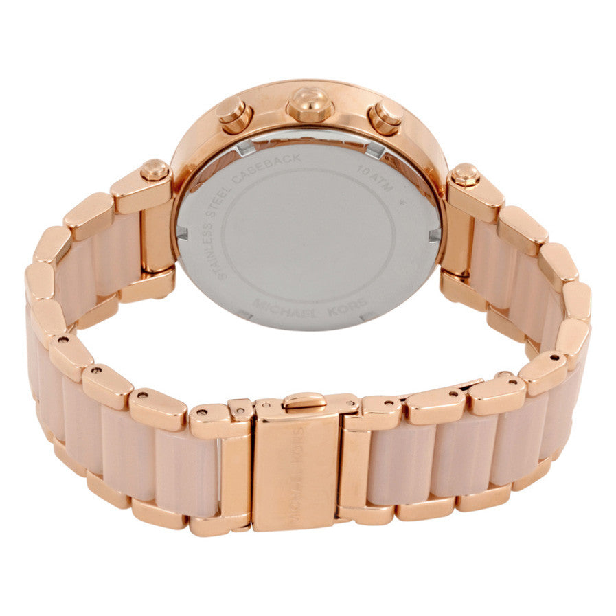 e46ae29bcf2 Parker Blush Dial Rose Gold-tone and Blush Acetate Ladies Watch ...