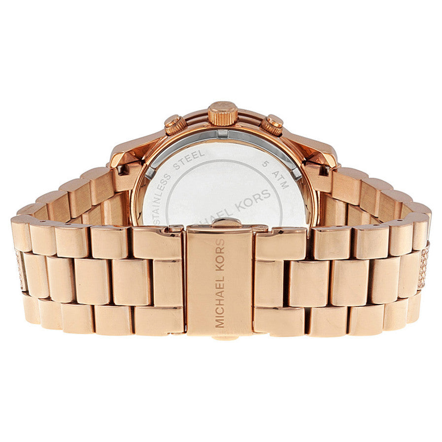Chronograph Dial Rose Gold-tone Ladies Watch