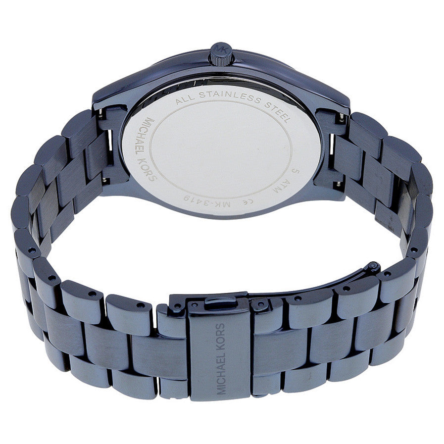 Slim Runway Blue Dial Blue Ion-plated Ladies Watch