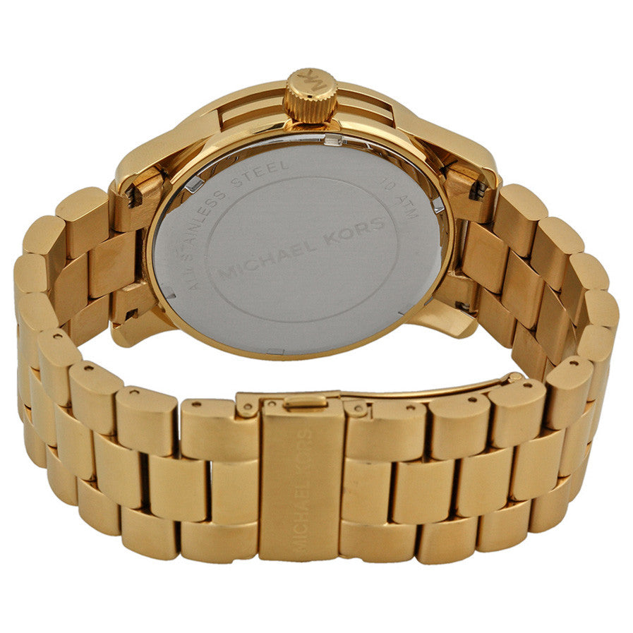 Runway Quartz Gold-tone Bracelet Gold Dial Ladies Watch