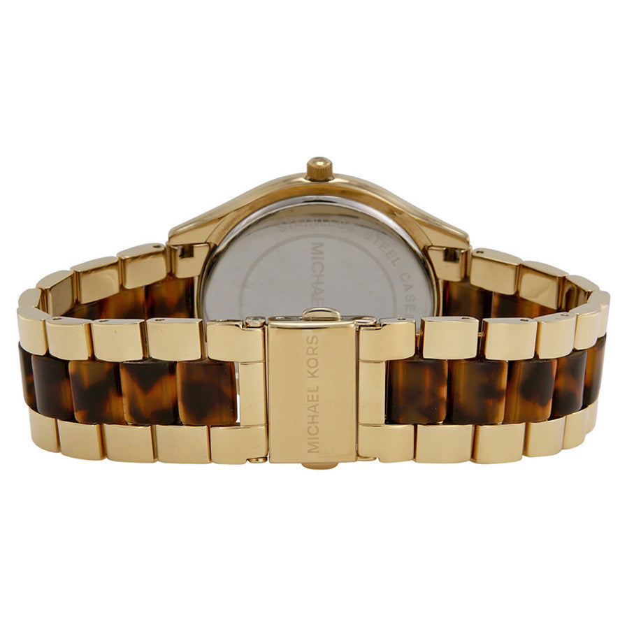 Slim Runway Tortoise-shell Dial Gold-tone and Tortoise-shell Acetate Ladies Watch