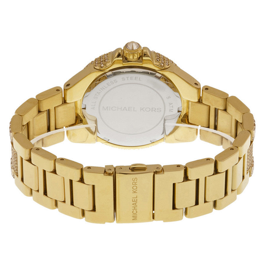 Camille Crystal Encrusted Gold Ion-plated Ladies Watch