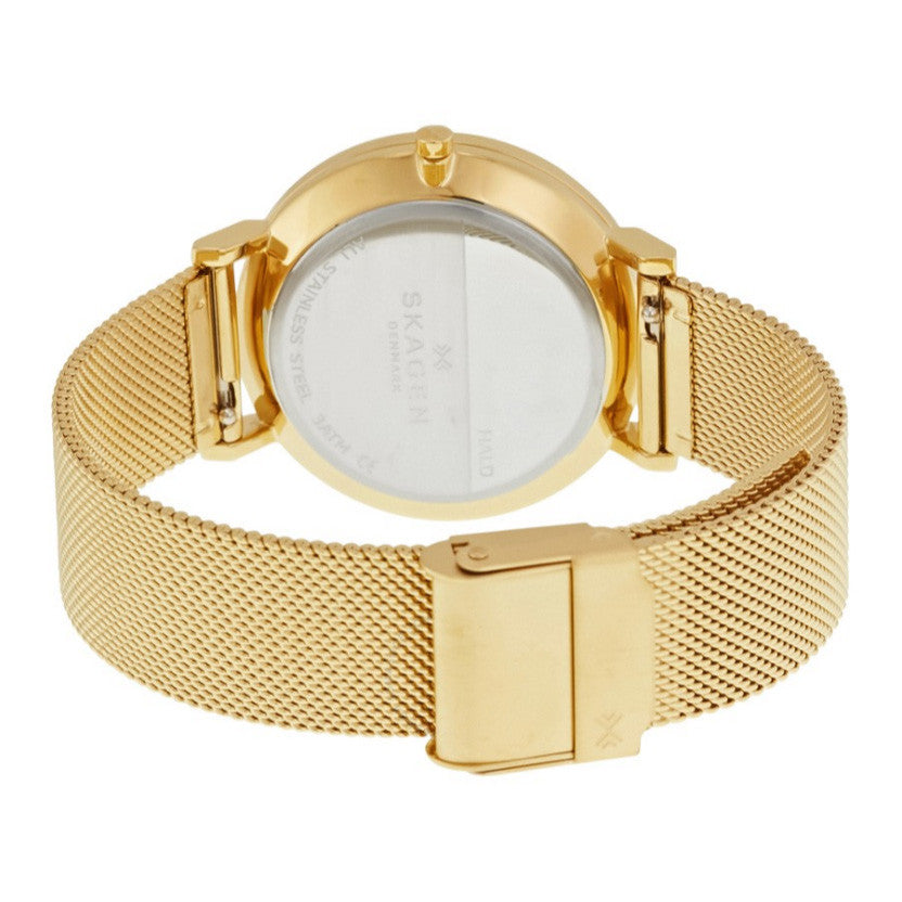 Hald Silver Dial Yellow Gold PVD Steel Ladies Watch