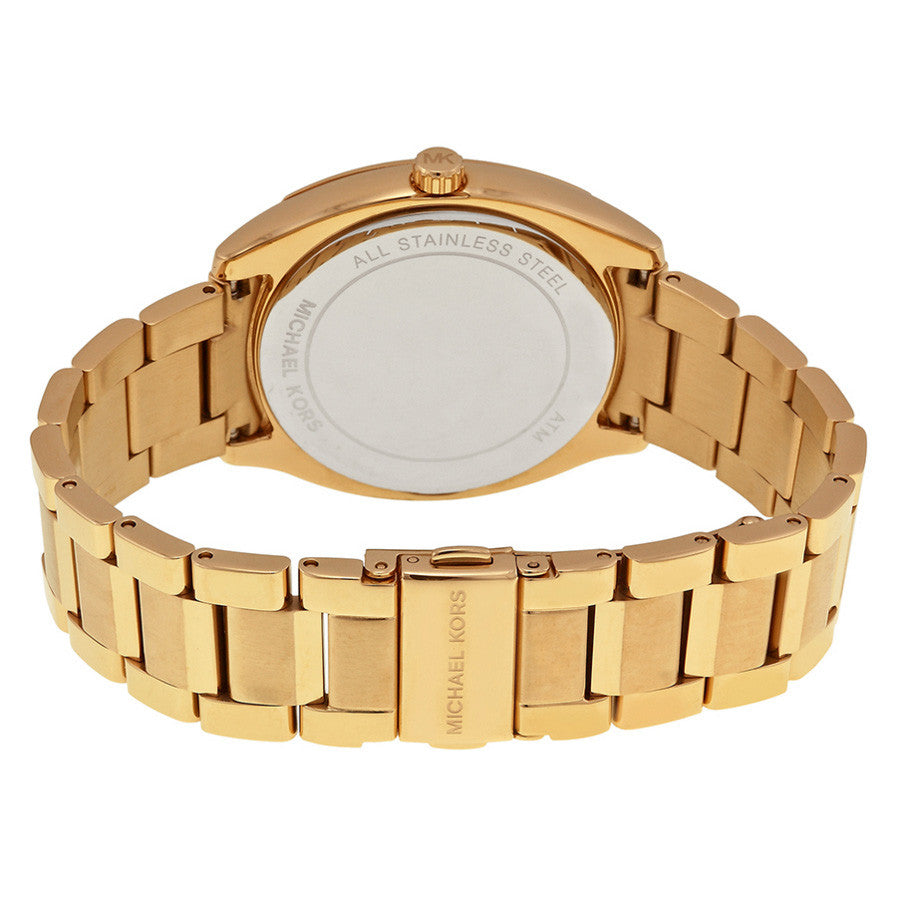 Bryn Gold Dial Gold-plated Ladies Watch