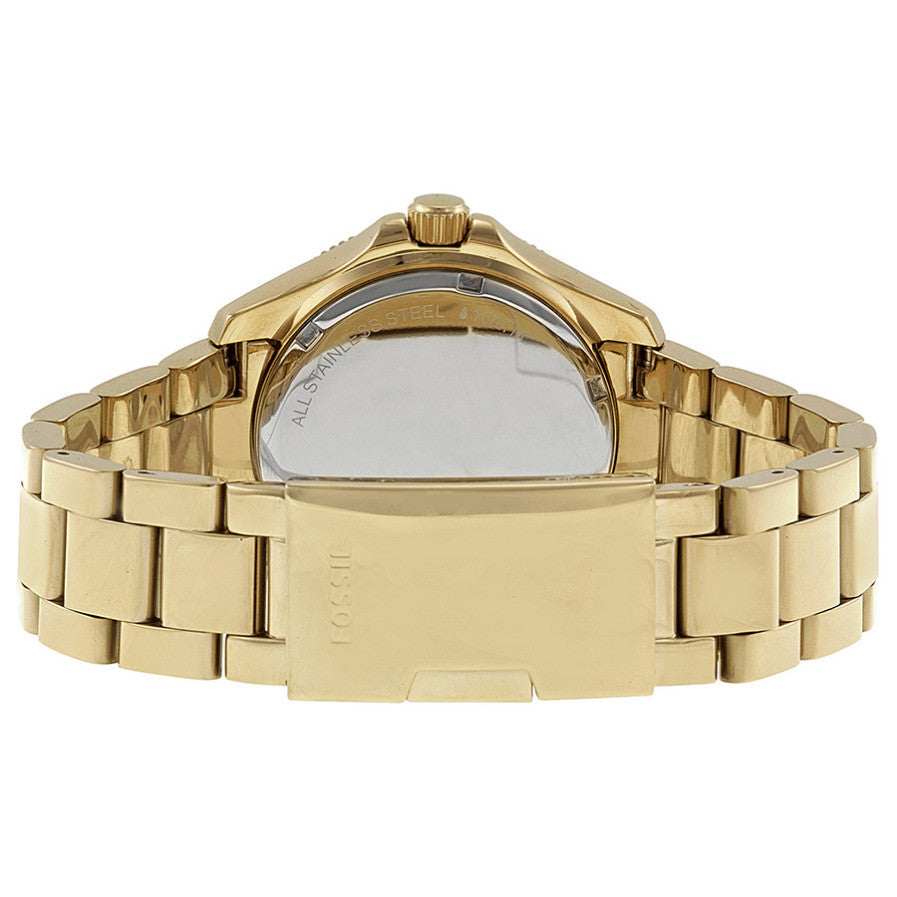Cecile Multifunction Gold Dial Gold-tone Ladies Watch