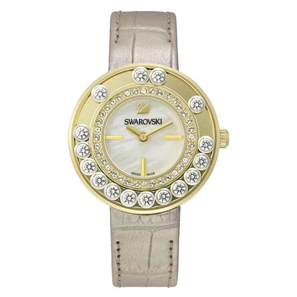 Lovely Crystals Light Gold Tone Ladies Watch