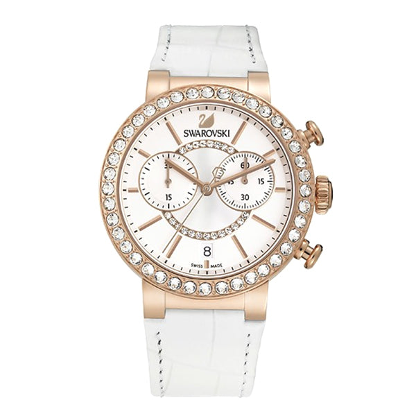 Citra Sphere Chrono White Rose Gold Tone Ladies Watch