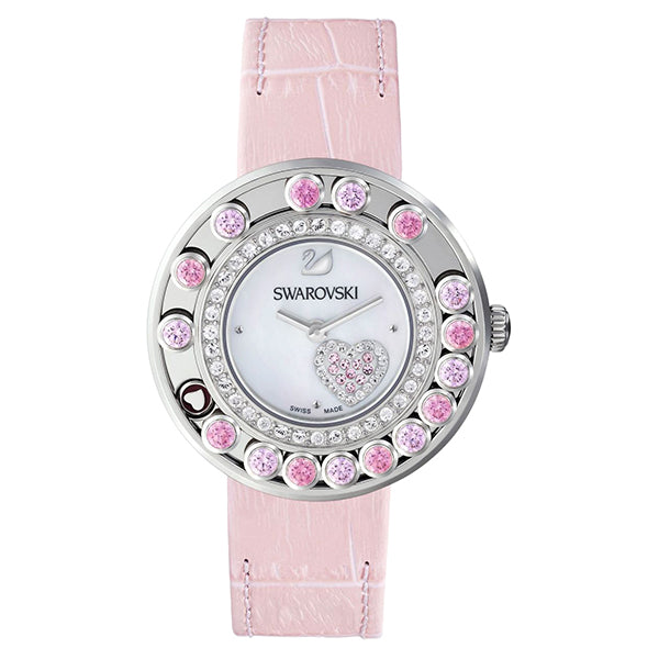 Lovely Crystals Pink Colored Ladies Watch
