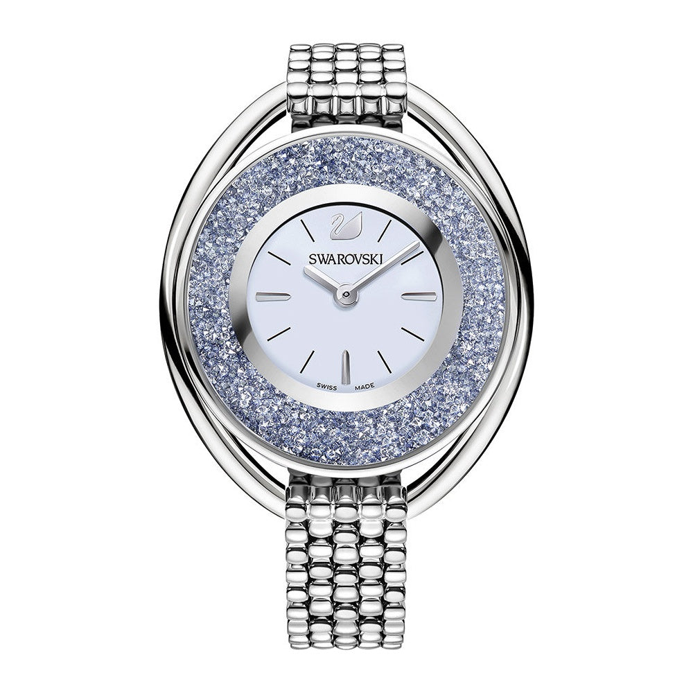 Crystalline Light Blue Sunray Dial Stainless Steel Ladies Watch
