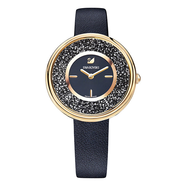 Crystalline Black Rose Gold Tone Ladies' Pure Watch