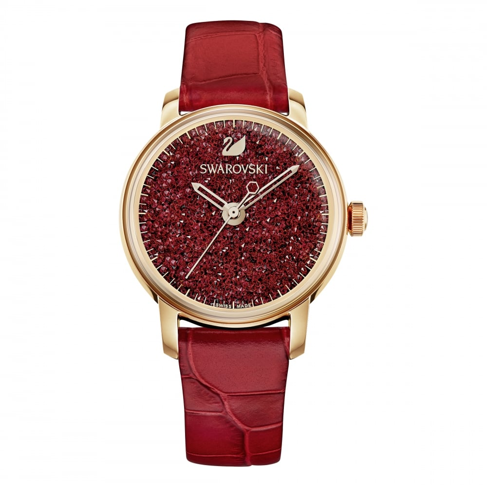 Crystalline Hours Red Strap Ladies' Watch