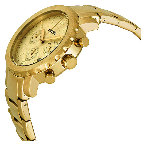 Natalie Chronograph Gold Ion-plated Ladies Watch