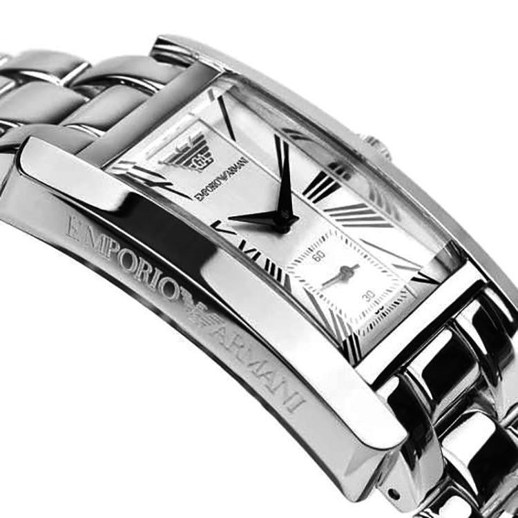 Classic White Dial Stainless Steel Ladies' Watch
