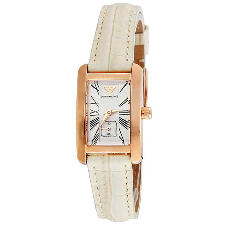 White Dial White Crocodile Leather Ladies' Watch