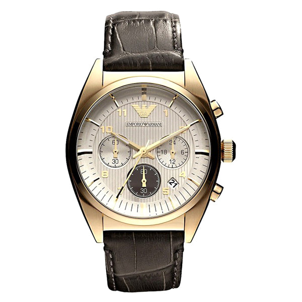 Chronograph White Dial Gold Men's Watch