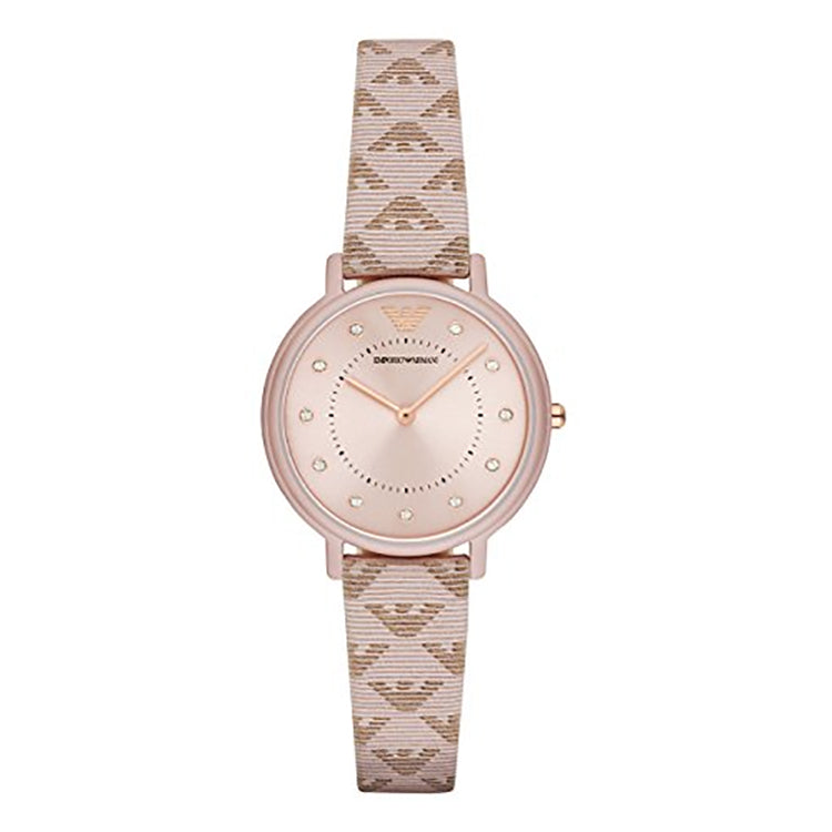 Armani Rose Gold-Tone Dial Ladies Watch