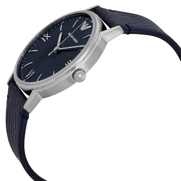 Blue Dial Ladies Blue Leather Watch